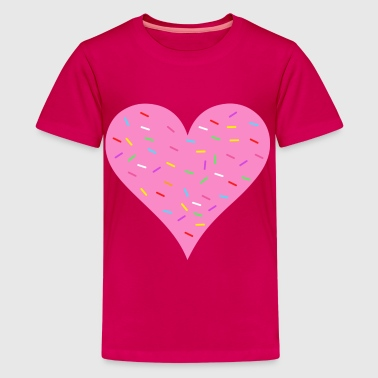 pink heart with sprinkles - Kids' Premium T-Shirt