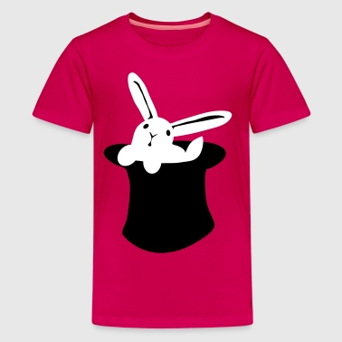 Wizard Rabbit rabbit in hat MAGIC!!! - Kids' Premium T-Shirt