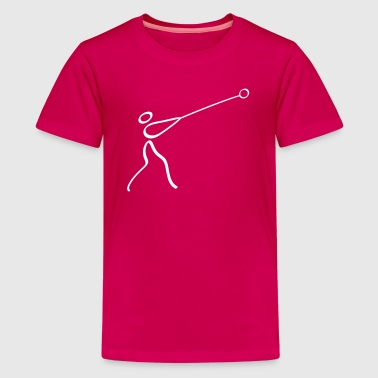 Athletics Hammer Throw Pictogram - Kids' Premium T-Shirt