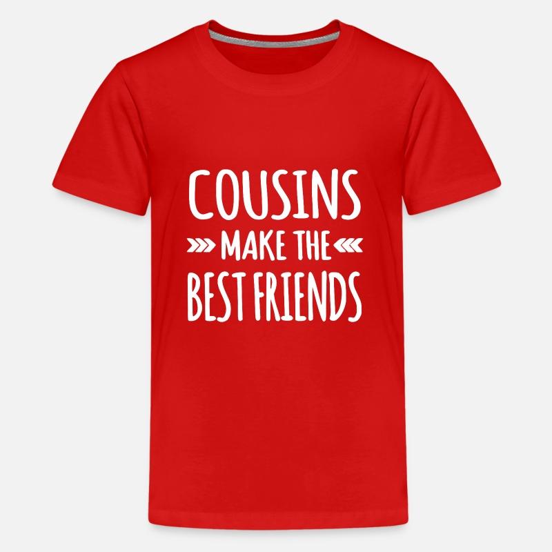 c3e63df08 Cousins Make the Best Friends Kids' Premium T-Shirt | Spreadshirt