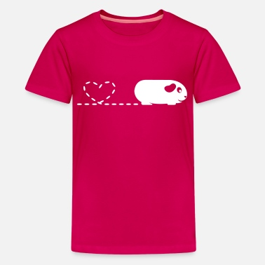 Pig With Heart Pooping Heart Guinea Pig - Kids' Premium T-Shirt
