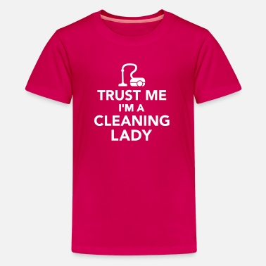 Broom Cleaning lady - Kids' Premium T-Shirt