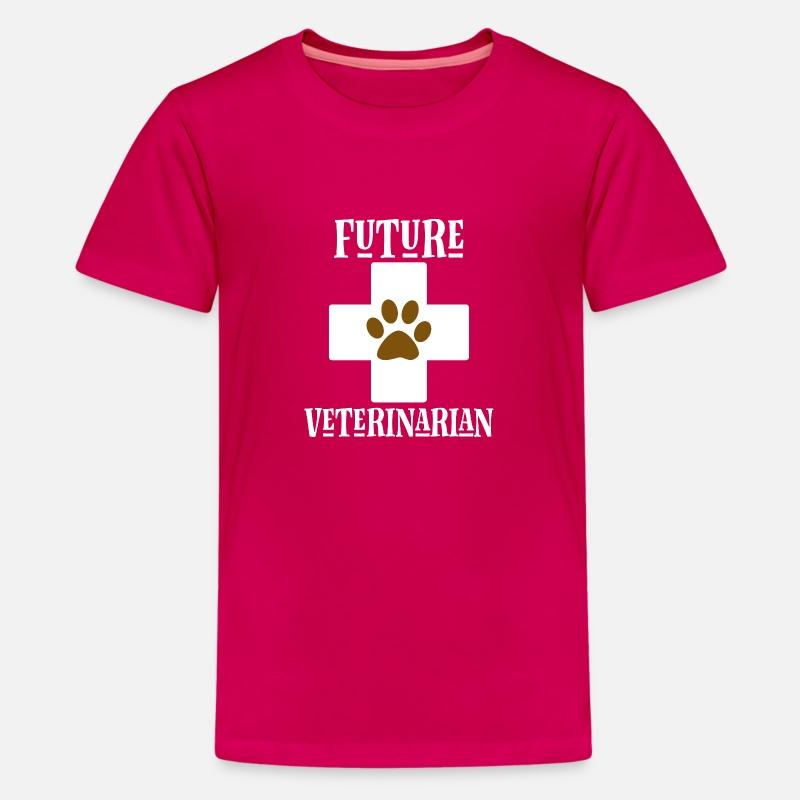 Future Veterinarian T Shirt Vet Kids Youth Dog Pet Animal Lover Boys Girls Gift