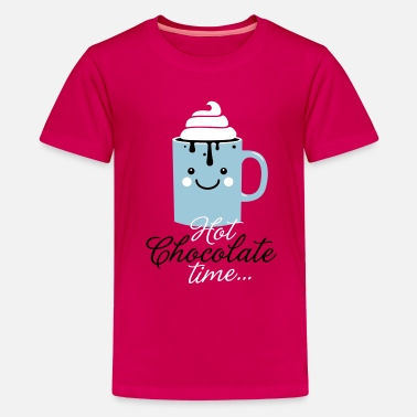 Fall i heart hot chocolate winter holiday food t-shirts - Kids' Premium T-Shirt