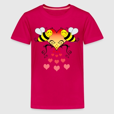 Bumble Bees With Hearts - Kids' Premium T-Shirt