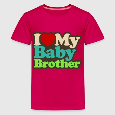 i_love_my_baby_brother - Kids' Premium T-Shirt