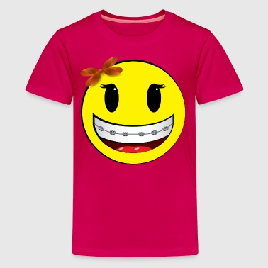 smiley braces girl - Kids' Premium T-Shirt