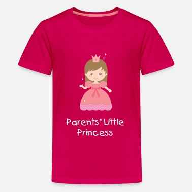 Pink Princess cute pink princess with polka dots dress - Kids' Premium T-Shirt