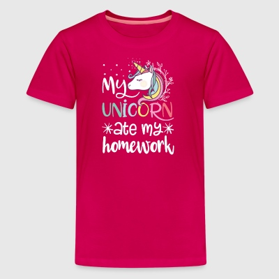 My Unicorn Ate My Homework - Kids' Premium T-Shirt