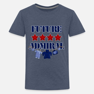 Military Sayings Future 4 Star Admiral Navy and Red Kids - Kids' Premium T-Shirt
