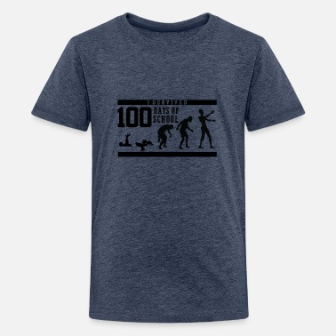 Elementary I Survived 100 Days of School Elementary Teacher 1 - Kids' Premium T-Shirt