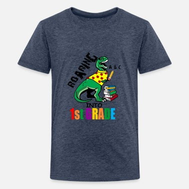 Back To School Roaring Into 1st Grade T Rex Back To School for - Kids' Premium T-Shirt