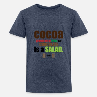 CHOCOLATE IS A SALAD - Kids' Premium T-Shirt