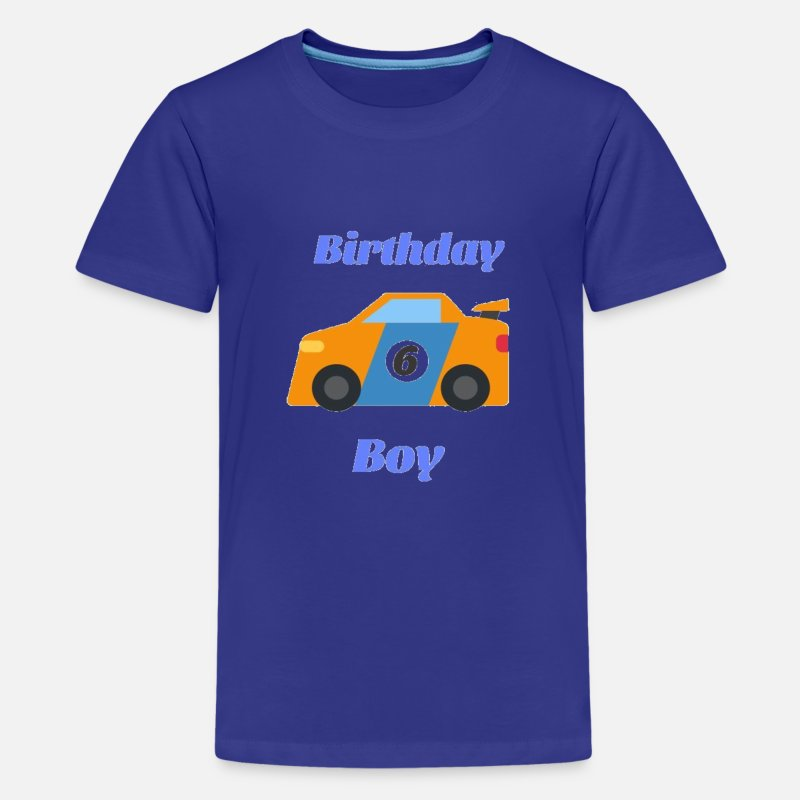 Kids Premium T ShirtBirthday Boy 6 Funny Gift For Cars Lovers