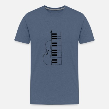 Cello and piano - Kids' Premium T-Shirt