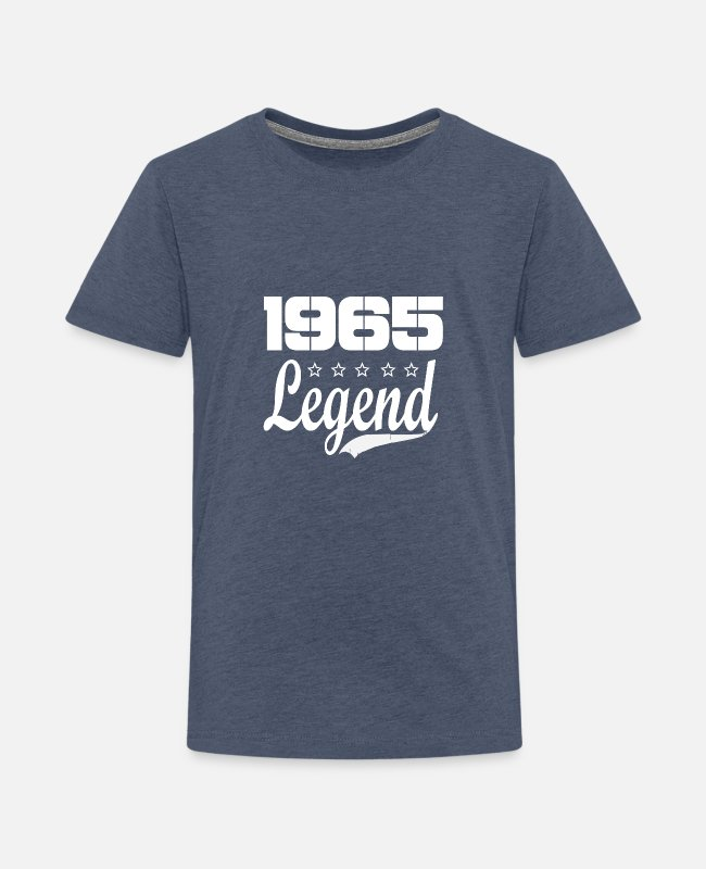 1965 T-Shirts - 65 Legend - Kids' Premium T-Shirt heather blue