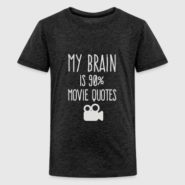 My brain is 90 movie quotes - Kids' Premium T-Shirt