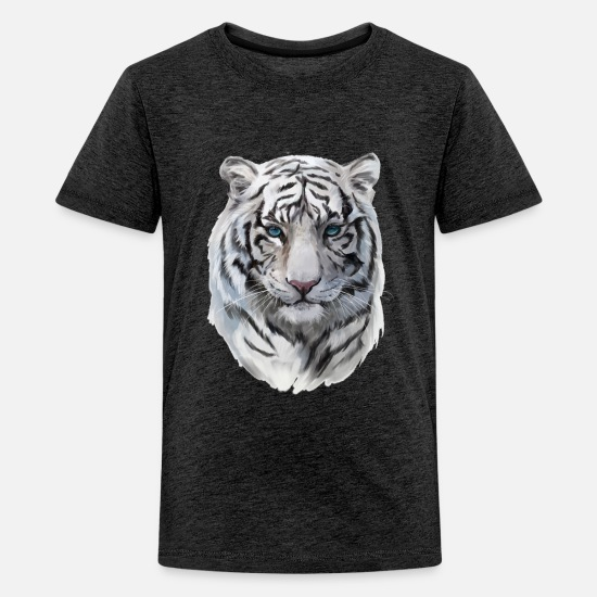 Gift Idea T-Shirts - White Tiger - Kids' Premium T-Shirt charcoal gray