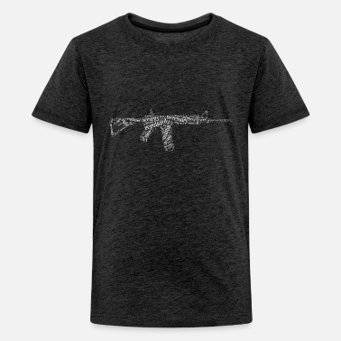 M16 White Rifle in 2nd Amendment - Kids' Premium T-Shirt