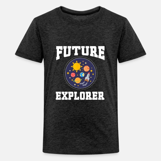 Space T-Shirts - Future Explorer Engineer Space Astronaut - Kids' Premium T-Shirt charcoal gray