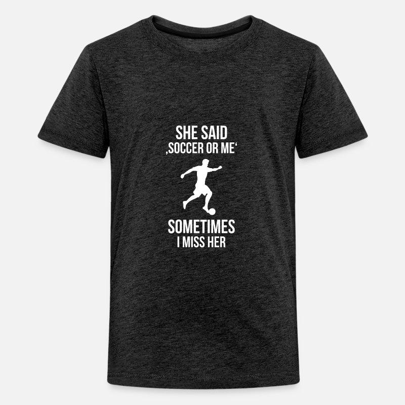 Soccer Girlfriend Kids Premium T Shirt Spreadshirt
