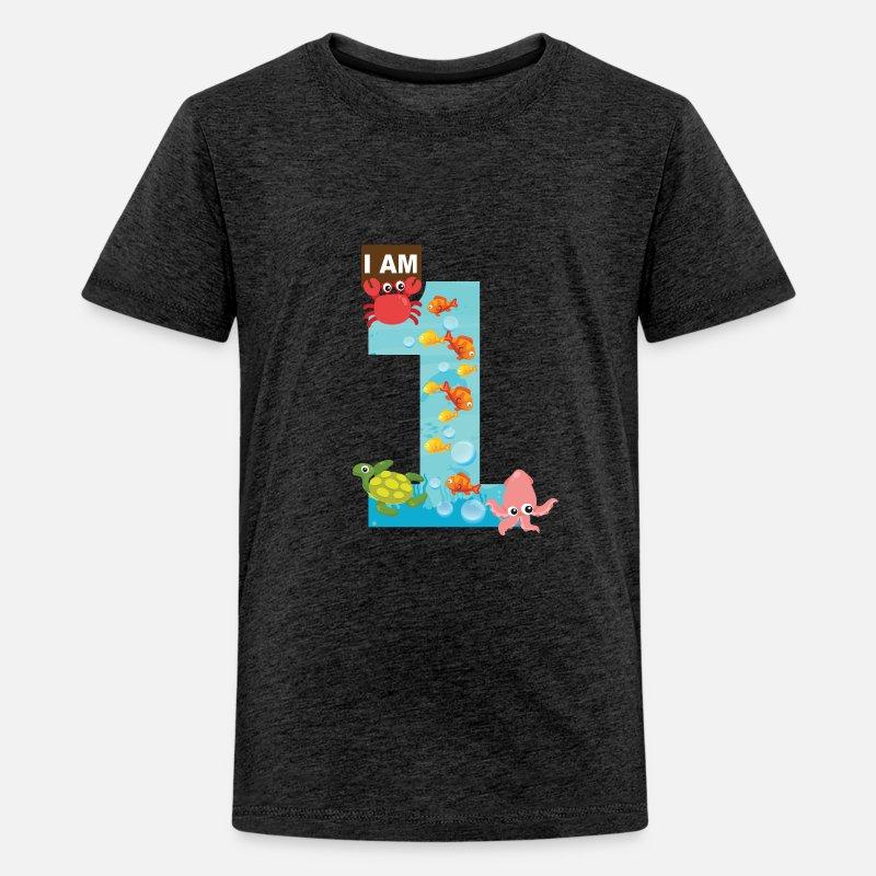 Ocean Theme 1st Birthday Shirt Kids Premium T