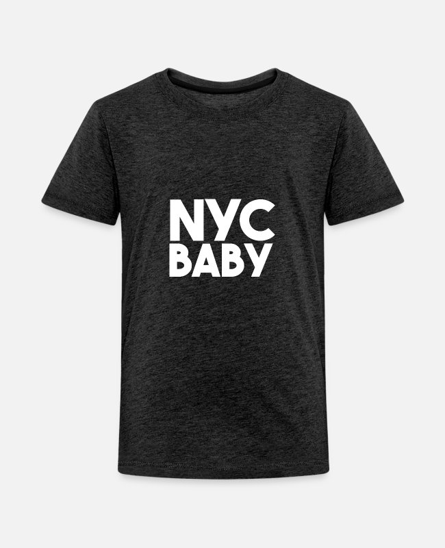 Design T-Shirts - NYC Baby - Kids' Premium T-Shirt charcoal gray