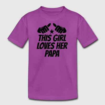 This Girl Loves Her Papa - Kids' Premium T-Shirt