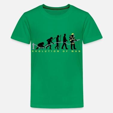 7f0f5465 evolution of man firefighter - Kids' Premium T-Shirt. Kids' Premium T- Shirt. evolution of man firefighter