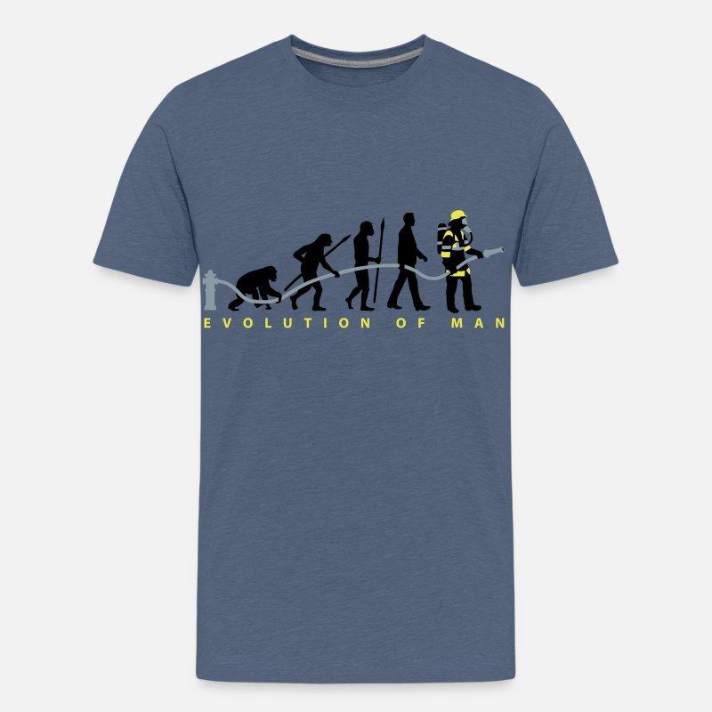 203847bcf evolution of man firefighter Kids' Premium T-Shirt | Spreadshirt