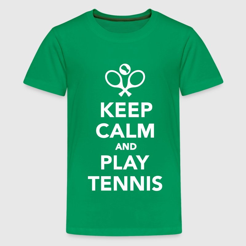 Keep calm and play Tennis - Kids' Premium T-Shirt