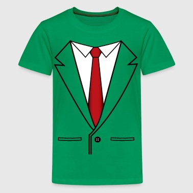 Suit and Red Tie - Kids' Premium T-Shirt