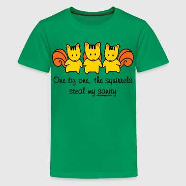 One by one the Squirrels  - Kids' Premium T-Shirt