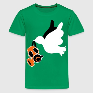 peace dove with gas mask no war make love! - Kids' Premium T-Shirt
