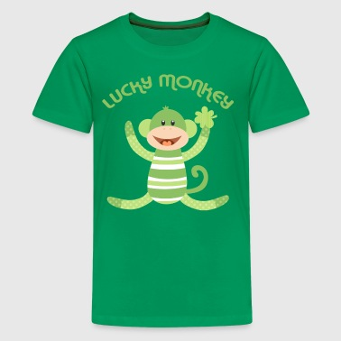 Lucky Sock Monkey - Kids' Premium T-Shirt