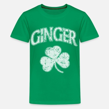 Ginger St Patricks Day Ginger Shamrock Dark St Patricks Day - Kids' Premium T-Shirt
