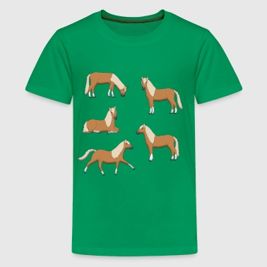 brown horses - Kids' Premium T-Shirt