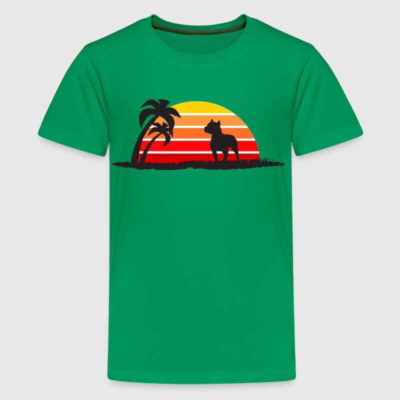 Pitbull On Sunset Beach - Kids' Premium T-Shirt