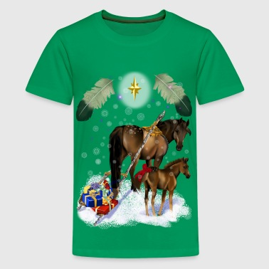Christmas Mare and Colt - Kids' Premium T-Shirt