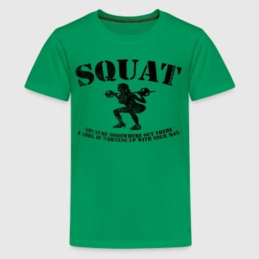 Bitches Weight Lifting Squat - Kids' Premium T-Shirt