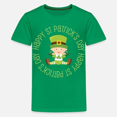 St Patricks Day Happy St Patrick's Day - Kids' Premium T-Shirt