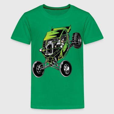 Green Dune Buggy - Kids' Premium T-Shirt