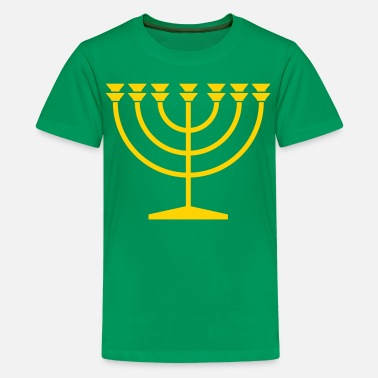 Judaism Menorah - Kids' Premium T-Shirt