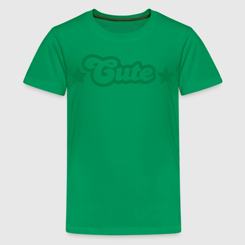 cute (the word) with stars - Kids' Premium T-Shirt