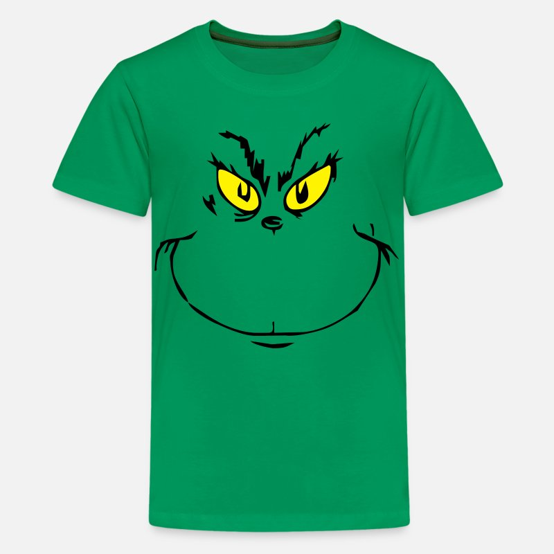 Christmas T-Shirts - thegrinch - Kids' Premium T-Shirt kelly green