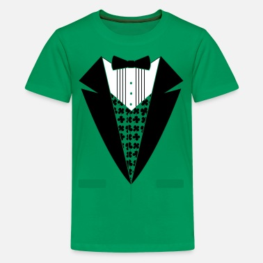 Irish Tuxedo Irish Leprechaun Tuxedo - Kids' Premium T-Shirt
