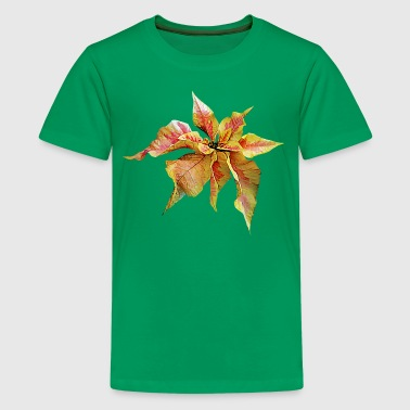 Fancy Pink and Yellow Poinsettia - Kids' Premium T-Shirt