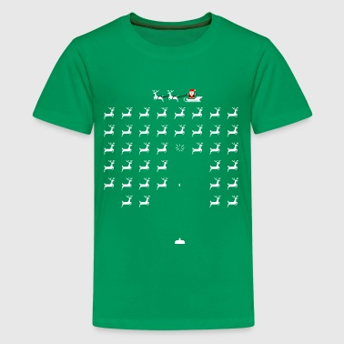 Space invaders santa - Kids' Premium T-Shirt
