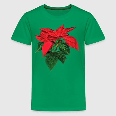 Three Christmas Poinsettias - Kids' Premium T-Shirt
