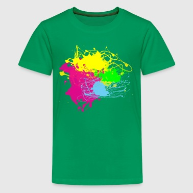 Colors Paint Splatter - Graffiti Graphic Design - Multicolor  - Kids' Premium T-Shirt